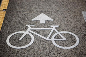 Bicycle street sign in Vancouver BC