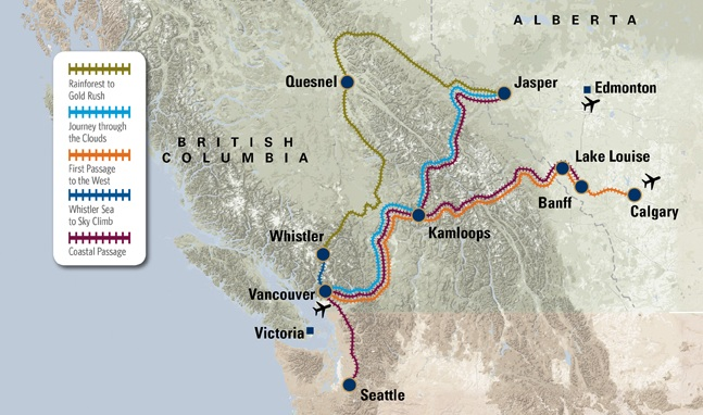 Rocky Mountaineer Two Day Train Journey Shortest Train Bcpassport